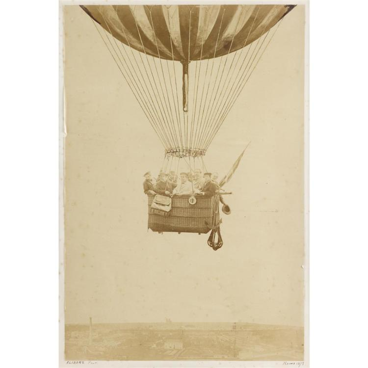 UNKNOWN ARTIST, (FRENCH 19TH-CENTURY), HOT AIR BALLOON RIDE, REIMS