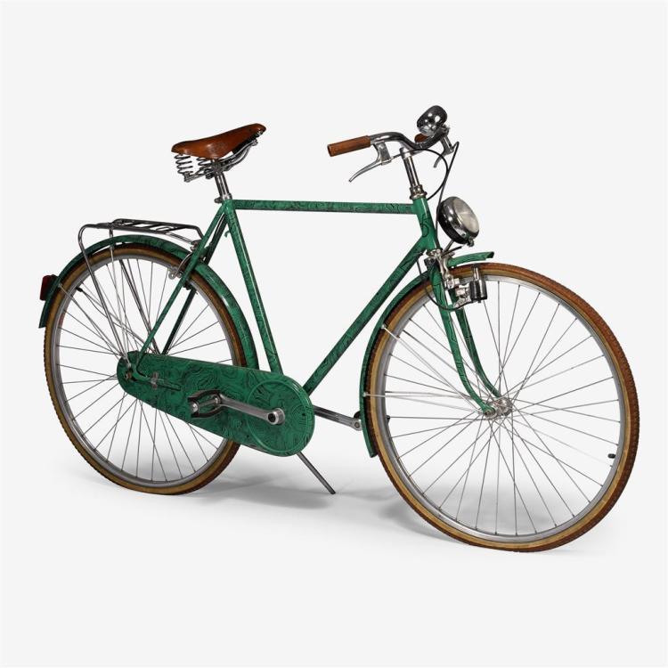 A Fornasetti malachite bicycle, Piero Fornasetti (Italian, 1913-1988), Milan, Italy, 1984