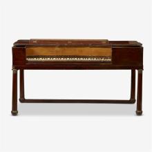 A neoclassical ormolu-mounted mahogany pianoforte, 19th century