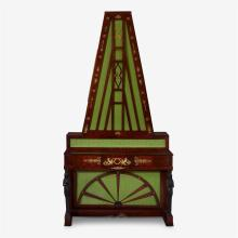 An Empire giltmetal-mounted and bronze-painted mahogany upright Flügelklavier, Circa 1825