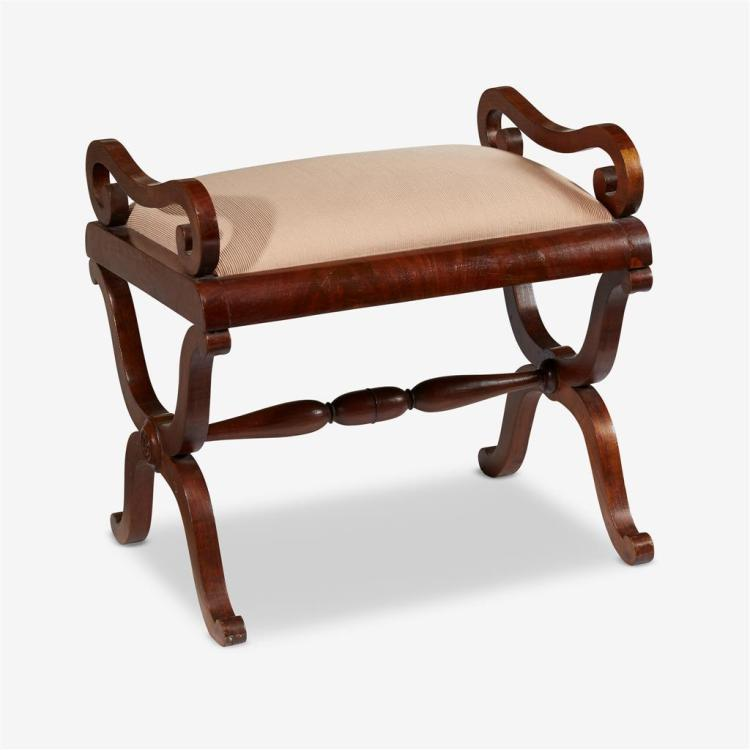 A Swedish Empire mahogany stool, First half 19th century