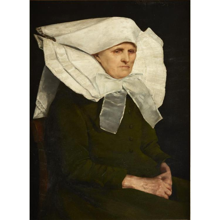 MARTA ARONSON-DANZIG, (DANISH 19TH CENTURY), PORTRAIT OF A NUN