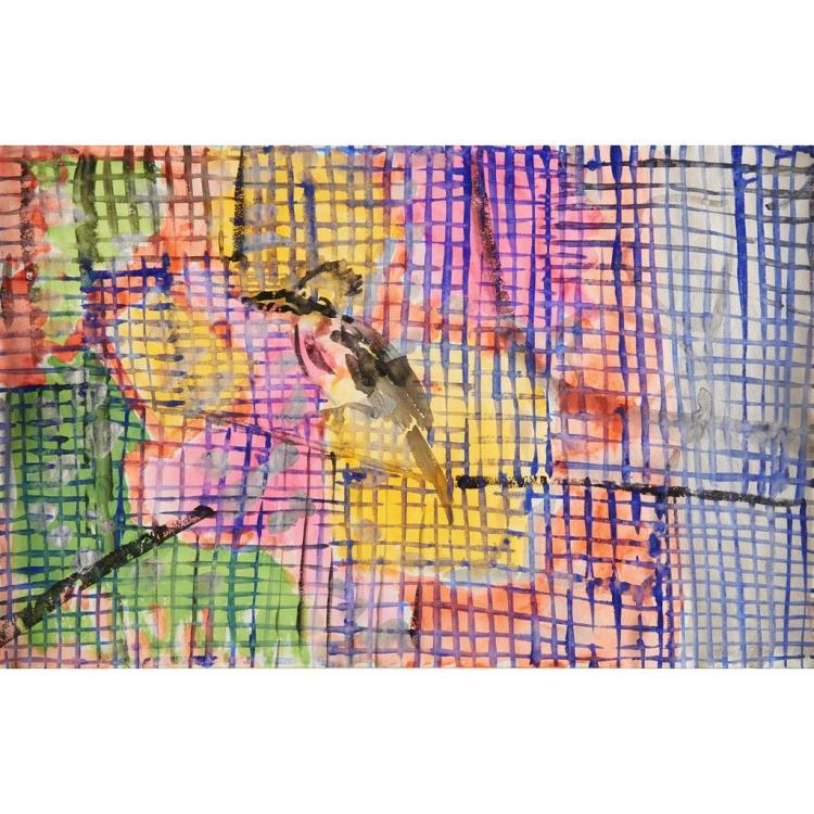 HUNT SLONEM, (AMERICAN B. 1951)BIRD