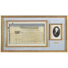 A signed document by Thomas McKean (American, 1734-1817), April 8, 1800