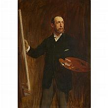 JOHN SEYMOUR LUCAS, (BRITISH 1849-1923), SELF PORTRAIT OF A PAINTER