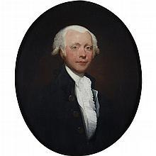 ATTRIBUTED TO GILBERT STUART, (AMERICAN 1755-1828), PORTRAIT OF A GENTLEMAN
