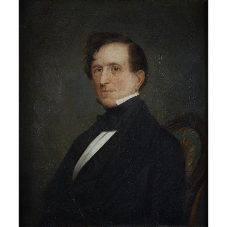 AMERICAN SCHOOL, (19TH CENTURY), PORTRAIT OF PRESIDENT FRANKLIN PIERCE, HALF LENGTH