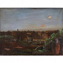 WALTER STUEMPFIG, (AMERICAN 1914-1970), VIEW OF PHILADELPHIA
