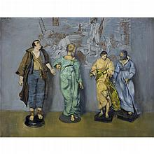 WALTER STUEMPFIG, (AMERICAN 1914-1970), FOUR FIGURINES