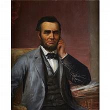 DANIEL HUNTINGTON, (AMERICAN 1816-1906), PORTRAIT STUDY OF ABRAHAM LINCOLN