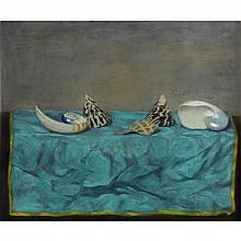 WALTER STUEMPFIG, (AMERICAN 1914-1970), STILL LIFE WITH SHELLS