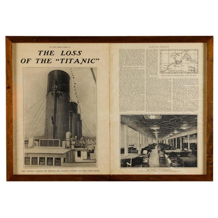 A collection of RMS Titanic ephemera, 1912