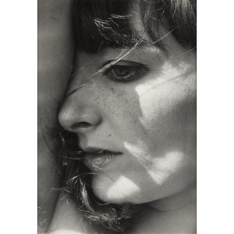 LUCIEN CLERGUE, (FRENCH 1934-2014), YOUNG WOMAN IN PROFILE