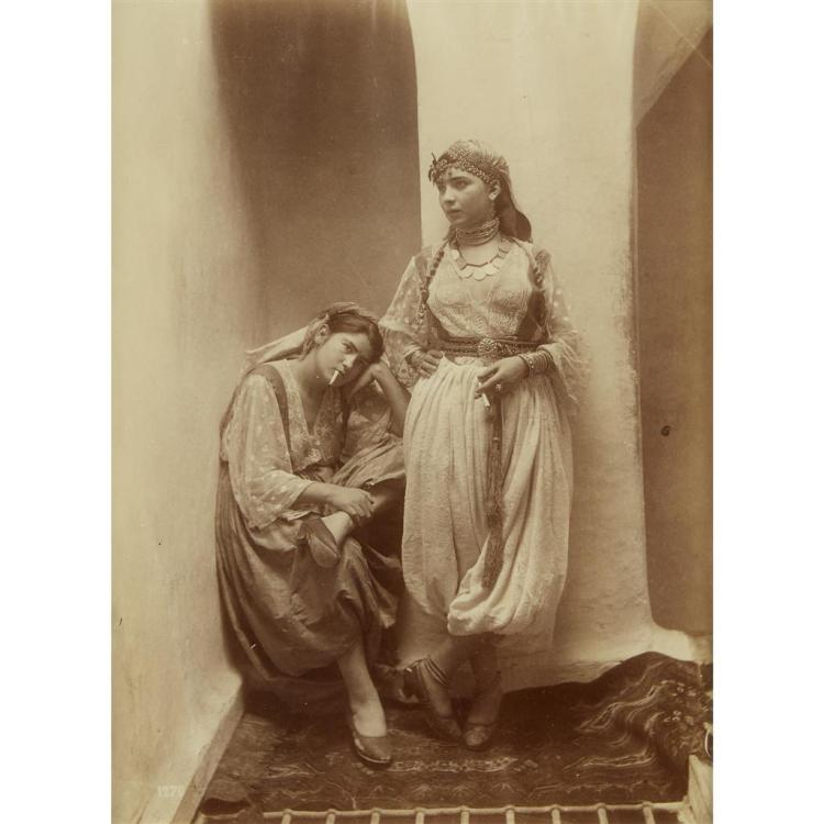 UNKNOWN ARTIST, (19TH CENTURY)TWO NORTH AFRICAN WOMEN