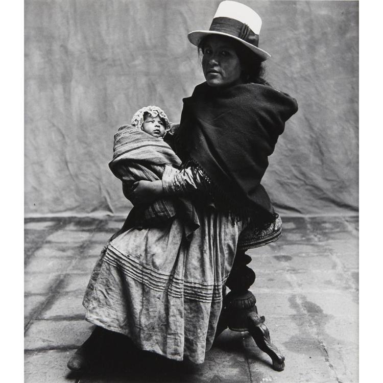 IRVING PENN, (AMERICAN 1917-1999), WOMAN HOLDING CHILD, CUZCO (PERU)