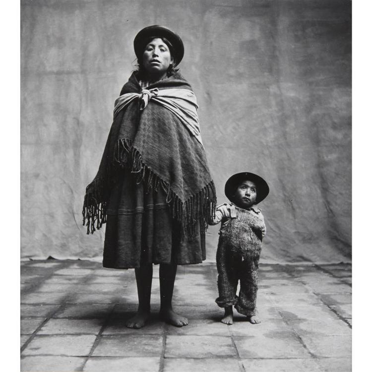 IRVING PENN, (AMERICAN 1917-1999), MOTHER AND CHILD, CUZCO (PERU)