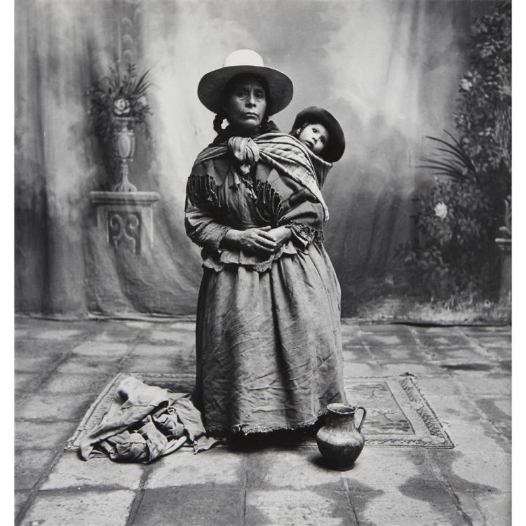 IRVING PENN, (AMERICAN 1917-1999), WOMAN WITH BABY ON BACK, CUZCO (PERU)