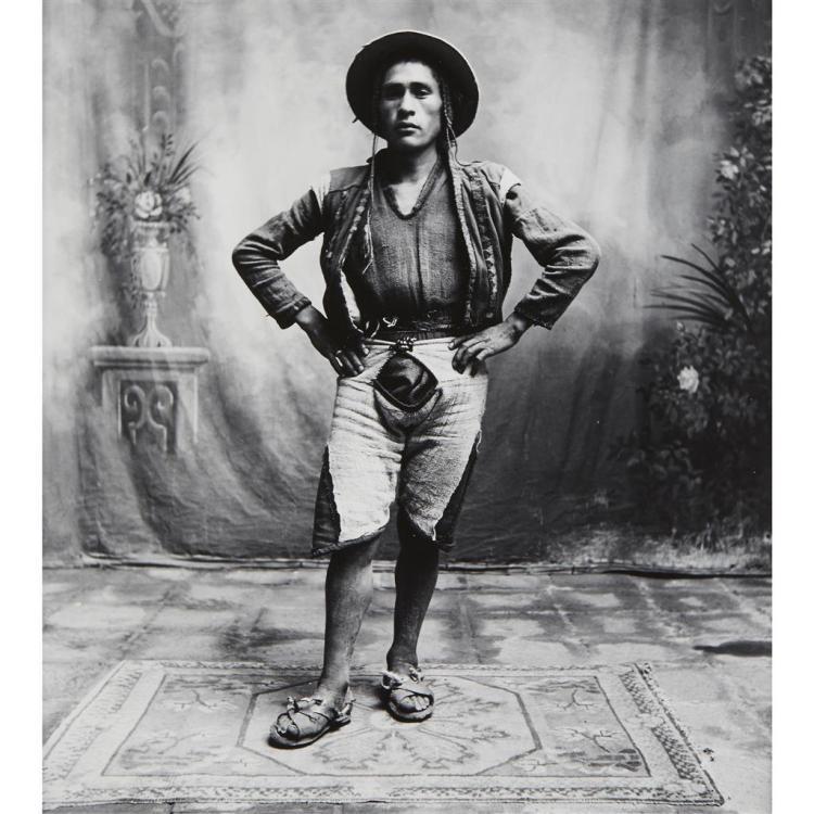 IRVING PENN, (AMERICAN 1917-1999), YOUNG QUECHUAN MAN, CUZCO (PERU)