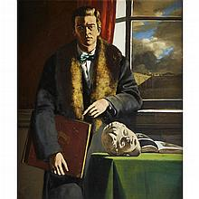 WALTER STUEMPFIG, (AMERICAN 1914-1970), PORTRAIT OF A COLLECTOR, RAY LIVINGSTON MURPHY