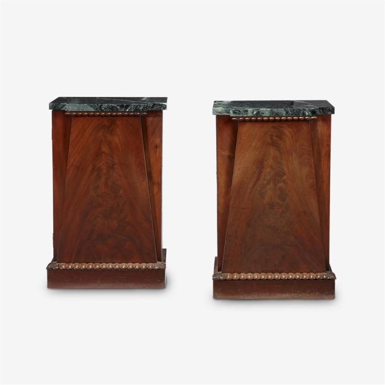 A Pair of Regency mahogany cabinets de chambre in the Egyptian taste, Circa 1840