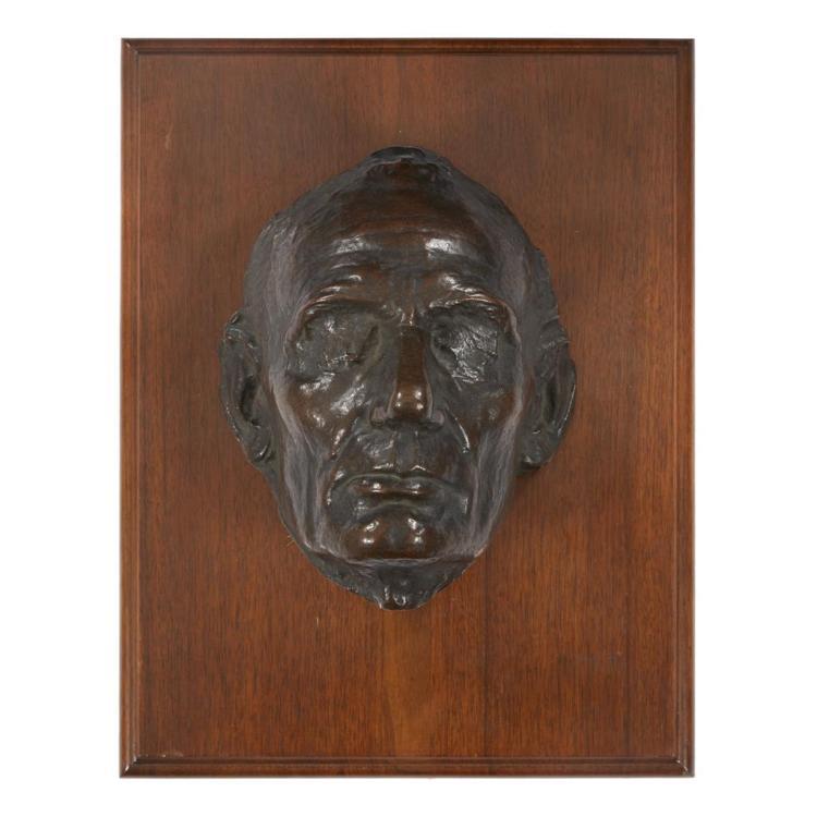 Leonard Wells Volk (American, 1828-1895), Life mask of Abraham Lincoln