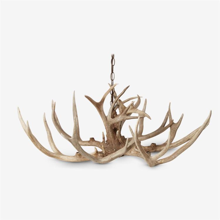 A deer antler chandelier, 20th century