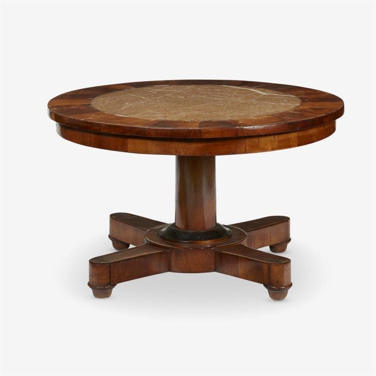 A William IV walnut pedestal side table, Circa 1850