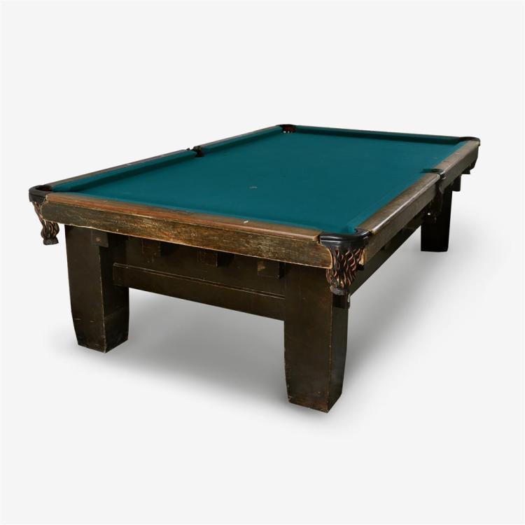 An Arts & Crafts style billiards table, Brunswick, Balke, Collender & Co., IL, circa 1910