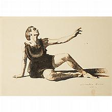 CLAUDIO BRAVO, (CHILEAN 1936-2011), UNTITLED (SEATED DANCER WITH OUTSTRETCHED ARM)