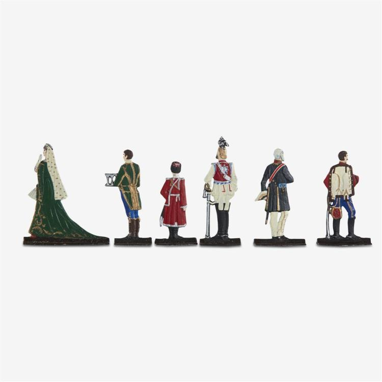 A set of eleven painted lead figures depicting the Russian Imperial Court, Russian, 20th century