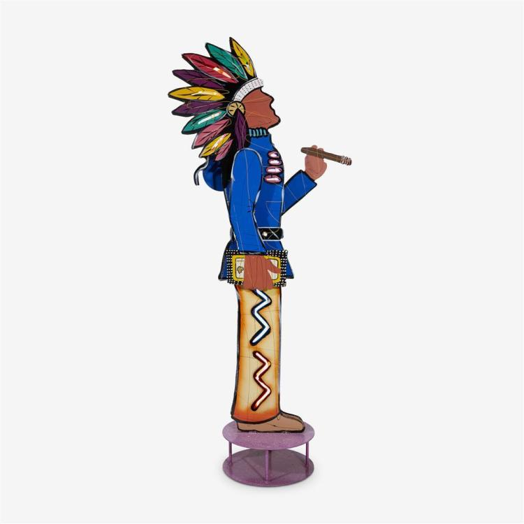 Frederick Prescott (American, b. 1949), Cigar store Indian, 2000
