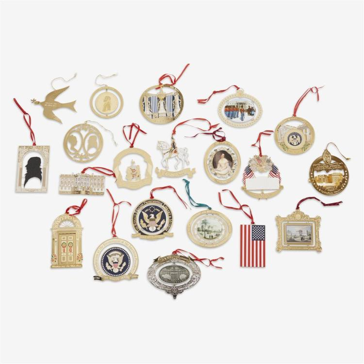 A group of White House Historical Association ornaments, Late 20th century