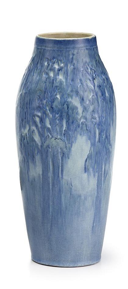 Art Pottery vase, newcomb college pottery, new orleans, la, 1931, Bearing cypher of decorator Henrietta Davidson Bailey (1874-1950), th
