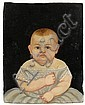 Attributed to William Kennedy (1817-1871), portrait of an infant, Oil on board., William W Kennedy, Click for value