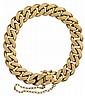 18 karat rose gold curb link bracelet, , Flat curb link.