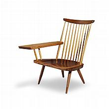 GEORGE NAKASHIMA (AMERICAN, 1905-1990), LOUNGE CHAIR WITH ARM, NEW HOPE, PENNSYLVANIA, 1965