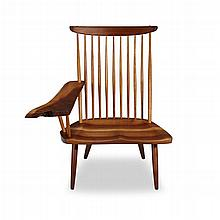 GEORGE NAKASHIMA (AMERICAN, 1905-1990), LOUNGE CHAIR WITH ARM, NEW HOPE, PENNSYLVANIA, 1971