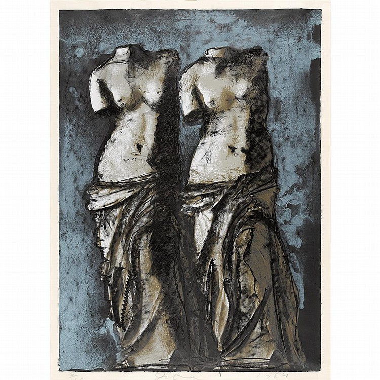 "JIM DINE, (AMERICAN, B. 1935), ""DOUBLE VENUS IN THE SKY AT NIGHT"""