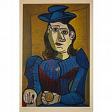 AFTER PABLO PICASSO, (SPANISH, 1881-1973), DORA MAAR (FEMME ASSISE)