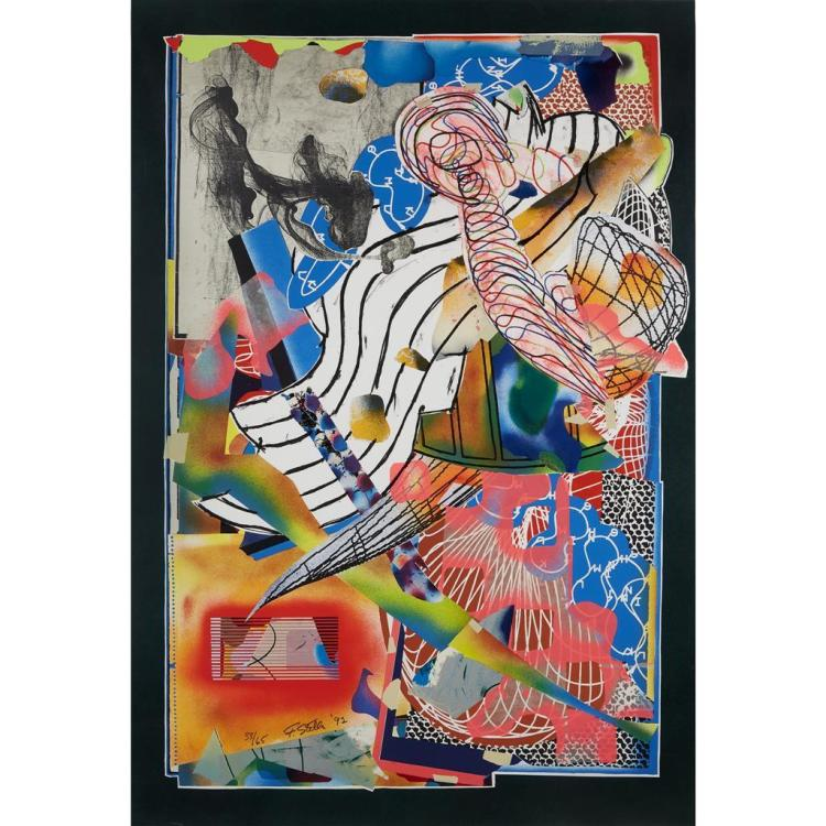 FRANK STELLA, (AMERICAN, B. 1936), THE CANDLES (STAPLING DOWN AND CUTTING UP) FROM