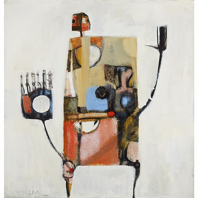 JIMMY LUEDERS, (AMERICAN, 1927-1994), UNTITLED (ABSTRACT FIGURE)