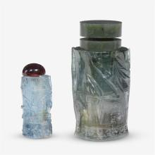 Two Chinese tourmaline snuff bottles, 19th/20th century