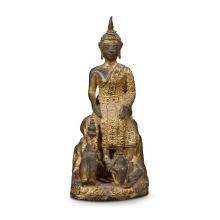 A Thai gilt bronze figure of the Buddha, rattanakosin period, 19th/early 20th century