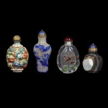 A group of four Chinese snuff bottles,