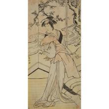 KATSUKAWA SHUNKO (1743-1812), KATSUKAWA SHUNEI (1762-1819), NISHAMURA SHIGENAGA (1697-1756), 18TH CENTURY, THREE JAPANESE ACTOR PRINTS