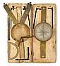 Brass surveyor's compass, edward duffield (1720-1801), philadelphia, pa, The silvered face marked,