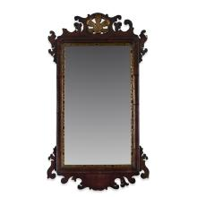 Chippendale mahogany and giltwood looking glass, Late 18th century