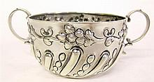 Victorian silver twin-handled cup, william hutton & sons, ltd., sheffield, circa 1900, In the 18th century style, repoussé-worked flute