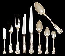 Scottish silver flatware service for twelve, mitchell & sons, glasgow, 1824-25,