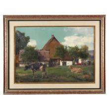 Ernst Albert Fischer (German, 1853-1932), , Landscape with Cows
